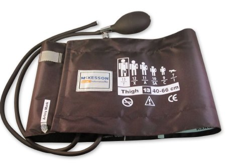 Blood Pressure Cuff and Bulb McKesson LUMEON™ Adult Thigh X - Large Cuff 40 - 66 cm Nylon Cuff Product Image