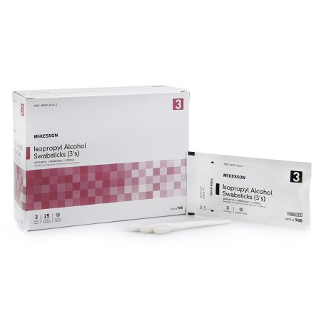 Impregnated Swabstick McKesson 70% Strength Isopropyl Alcohol Individual Packet Sterile Product Image