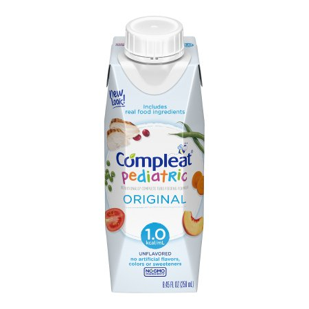 Pediatric Tube Feeding Formula Compleat® Pediatric 8.45 oz. Carton Ready to Use Unflavored Ages 1-13 Years Product Image