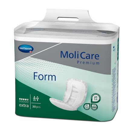 Bladder Control Pad MoliCare® Premium Form Extra 11-1/2 X 24-1/2 Inch Moderate Absorbency Polymer Core One Size Fits Most Adult Unisex Disposable Product Image