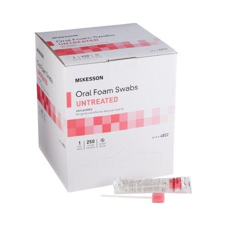 Oral Swabstick McKesson Foam Tip Untreated Product Image