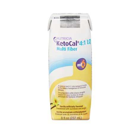 Oral Supplement KetoCal® 4:1 LQ Vanilla Flavor Ready to Use 8 oz. Carton Product Image