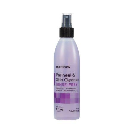Rinse-Free Perineal Wash McKesson Liquid 8 oz. Pump Bottle Fresh Scent Product Image