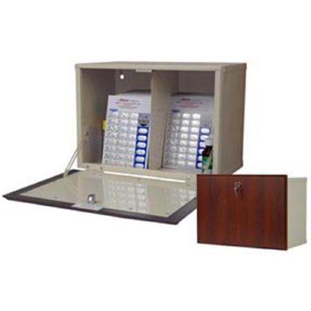 880279 Harloff Wl2717 Dc Medication Cabinet Wall Mount Wooden Laminate Steel Slam Lock