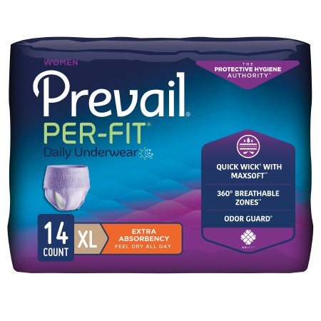 Adult Prevail Per-Fit Women's Protective Underwear for Moderate Absorbency - Pack