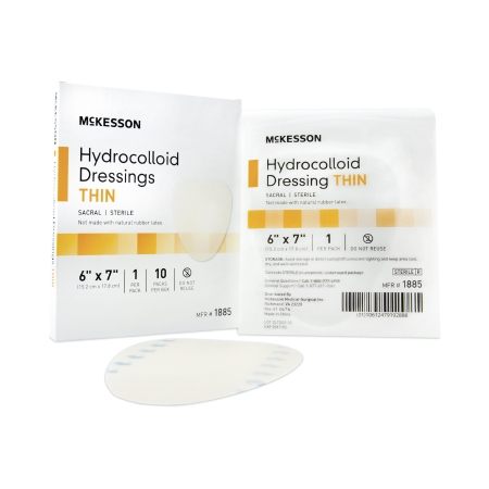 Hydrocolloid Dressing McKesson 6 X 7 Inch Sacral Sterile Product Image