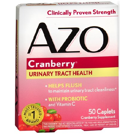 Cranberry Supplement AZO 500mg Strength Tablets (50/box)
