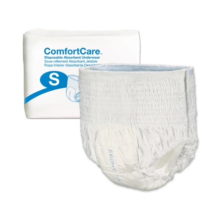 Unisex Adult Absorbent Underwear ComfortCare™ Pull On with Tear Away Seams Small Disposable Moderate Absorbency Product Image