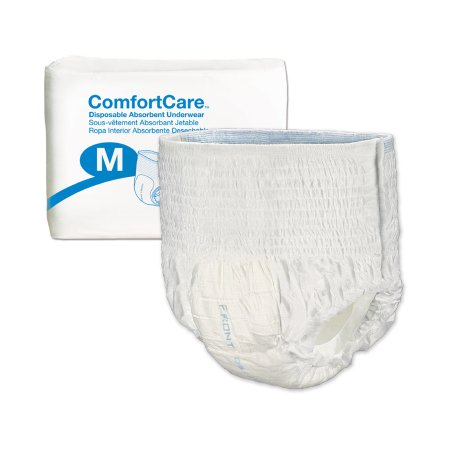 Unisex Adult Absorbent Underwear ComfortCare™ Pull On with Tear Away Seams Medium Disposable Moderate Absorbency Product Image