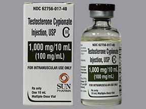 #884901; 29; Sun Pharmaceuticals #62756001740. Androgen Testosterone  Cypionate 100 mg / mL ...