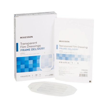 Transparent Film Dressing McKesson Octagon 4 X 4-3/4 Inch Frame Style Delivery Without Label Sterile Product Image