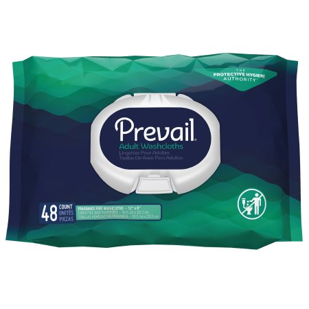 Personal Wipe Prevail® Soft Pack Aloe / Vitamin E / Chamomile Unscented 48 Count Product Image