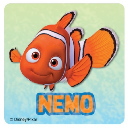 50 per Pack SmileMakers Inc Disney Glitter Finding Nemo Stickers Party Favors