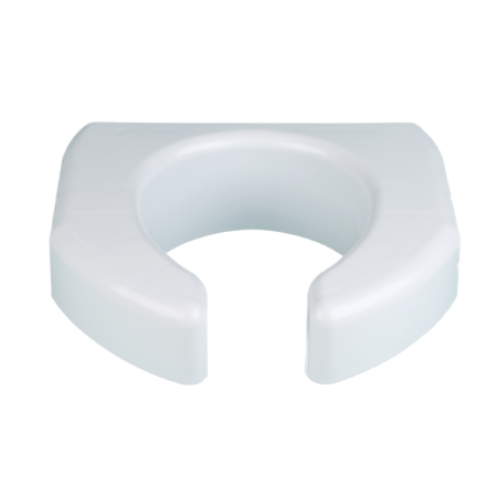 Raised Toilet Seat Ableware Basic 3 Inch Height White 350 lbs. Weight Capacity Product Image