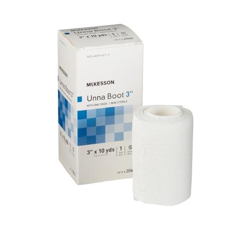 Unna Boot McKesson 3 Inch X 10 Yard Cotton Zinc Oxide NonSterile Product Image
