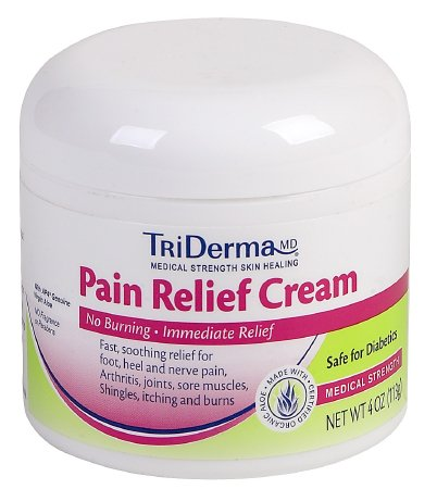 Topical Pain Relief TriDerma MD® 4% - 1.25% Strength Lidocaine / Menthol Cream 4 oz. Product Image