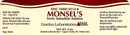 Gordon Laboratories 10481-0112-08