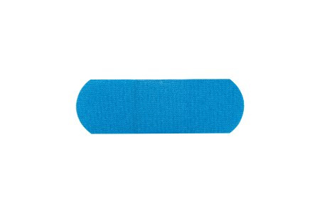 Metal Detectable Adhesive Strip American® White Cross 1 X 3 Inch Fabric Rectangle Blue Sterile Product Image