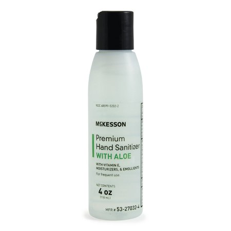 Hand Sanitizer with Aloe McKesson Premium 4 oz. Ethyl Alcohol Gel Bottle Product Image