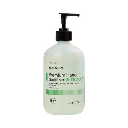 Hand Sanitizer with Aloe McKesson Premium 18 oz. Ethyl Alcohol Gel Pump Bottle Product Image