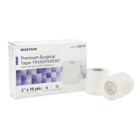 Medical Tape McKesson Water Resistant Plastic 2 Inch X 10 Yard Transparent NonSterile Product Image