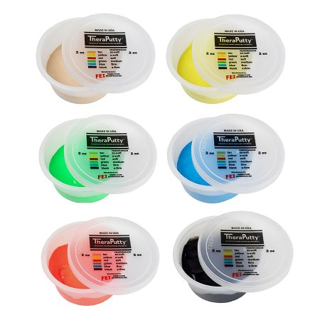 Therapy Putty Set CanDo® TheraPutty® 2X-Soft / X-Soft / Soft / Medium / Firm / X-Firm 6 X 2 oz. Product Image