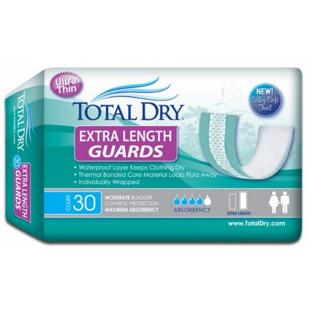 Bladder Control Pad TotalDry™ 12 Inch Length Moderate Absorbency SecureLoc Core One Size Fits Most Adult Unisex Disposable Product Image