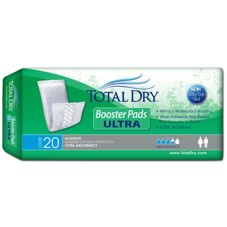 Incontinence Booster Pad TotalDry™ Ultra 13 Inch Length Heavy Absorbency SecureLoc Core One Size Fits Most Adult Unisex Disposable Product Image