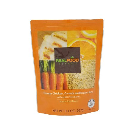 Tube Feeding Formula Real Food Blends™ 9.4 oz. Pouch Ready to Use Orange Chicken / Carrots / Brown Rice Adult / Child Product Image