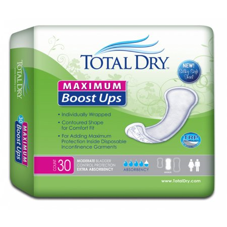Incontinence Booster Pad TotalDry™ 13.8 Inch Length Heavy Absorbency Polymer Core One Size Fits Most Adult Unisex Disposable Product Image
