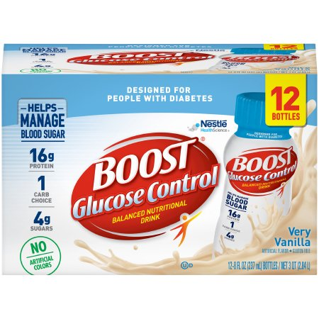 Oral Supplement Boost Glucose Control® Very Vanilla Flavor Ready to Use 8 oz. Bottle Product Image