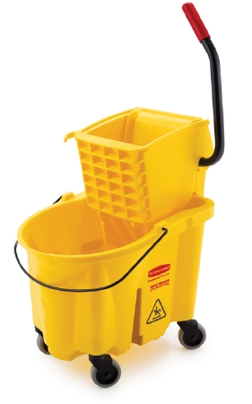 Rubbermaid Mop Bucket with Wringer - 26 Quart - Yellow (1/each)