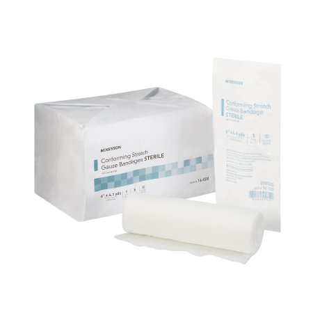 Conforming Bandage McKesson Polyester 6 Inch X 4-1/10 Yard Roll Shape Sterile Product Image