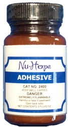 Nu-Hope 2400 Adhesive Cement Nu-Hope 3 oz . Applicator One Ea(1Ea)