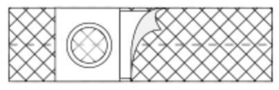 NU-HOPE  2666 Hernia Belt Medium, Adult 4 Inch one EA(1/EA)