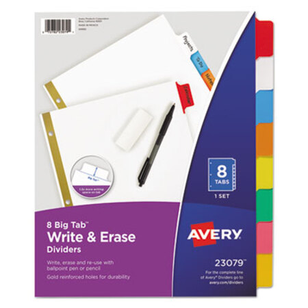 8 White Tabs Letter White Universal Write-On//Erasable Indexes 7 Sets of 8