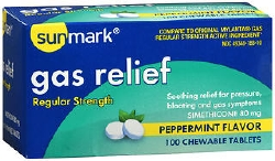 sunmark® Peppermint Flavor Antacid, 100 Chewable Tablets