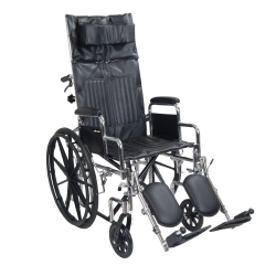 drive™ Chrome Sport Standard Wheelchair with Padded, Removable Arm, Composite Mag Wheel, 20 in. Seat, Swing-Away Elevating Legrest, 350 lbs