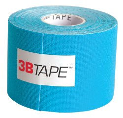 3B Tape™ NonSterile Water-Resistance Kinesiology Tape, 2 x 16-1/2 ft, Blue