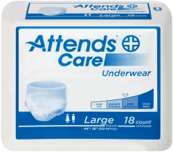 Attends® Care Adult Moderate Absorbent Underwear, Large, White