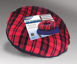North American Health + Wellness Seat Ring Cushion, Foam, Red / Black, Non-inflatable