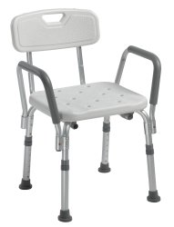 drive™   Shower Chair with Back and Removable Padded Arms
