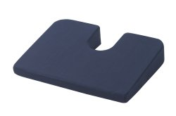 drive™ Coccyx Cushion, 18 in. W x 14 in. D x 3 in. H, Foam, Blue, Non-inflatable