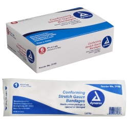 dynarex® Conforming Bandage, 6 inch x 4-1/10 yard