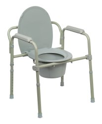 McKesson Folding Commode Chair