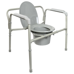 McKesson Heavy Duty Folding Commode Chair