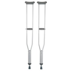 McKesson Underarm Crutches, 5 ft. 10 in. - 6 ft. 6 in., Tall Adult, 350 lbs. Weight Capacity