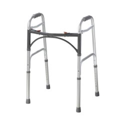 McKesson Folding Walker, 25 - 32 in., Silver, 350 lbs. Capacity, Aluminum