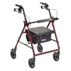 McKesson 4-wheel Rollator, Red
