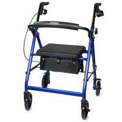 McKesson 4-wheel Rollator, Blue
